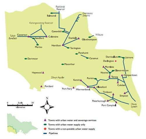 regional map regional map wannon water