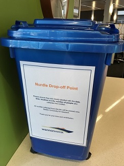 Nurdle drop-off point bin